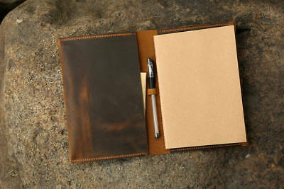 Vintage retro leather cover case for A5 notebook / A5 refillable leather journal