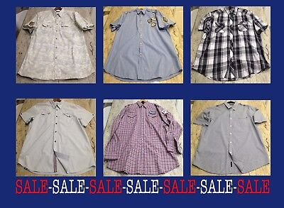 Lot Of 6 Mens 3Xl Casual Button Up Shirts Clean Pre Owned Various Brands
