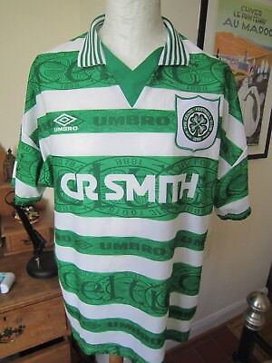 MEN'S CELTIC HOME SHIRT 1995-1997  XL   Umbro 95-97 football kit jersey trikot
