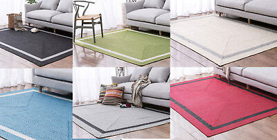 Large Rugs Red Blue Green Grey Black Beige Reversible Lounges Carpet Mat Runners
