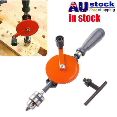 1/4inch Woodworking Hand Drill Manually Crank Drill Kit DIY Hole Drilling Tool