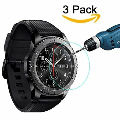 3-Pack Gear S3 Frontier / Classic Screen Protector, 9H Hardness Tempered Glass