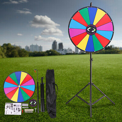 "24"" Wheel Prize Color Game Dry Erase Spinning Stand Spin Tradeshow Editable Slot"