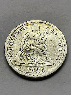 1885 Seated Liberty Dime VF #11253