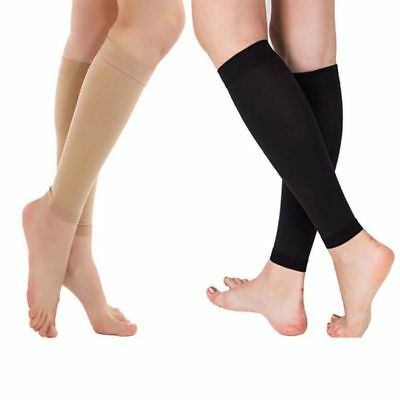 Relieve Leg Calf Sleeve Brace Support Compression Varicose Socks Stocking Unisex