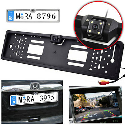 License Plate Frame with Car Rear View Reverse Camera Night Vision Waterproof EU