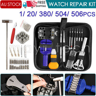 506/380Pcs Watch Opener Hand Watchmakers Remover Repair Tool Kit Set w/case AU