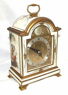 BOODLE & DUNTHORNE Lacquered Chinoiserie Bracket Mantel Clock ELLIOTT LONDON