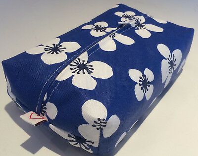 Baby Wipes Cover Zipped  Made In Scandinavian Print - Belle Amie Blue Acrylic