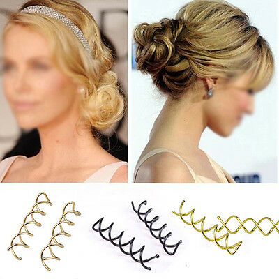 10Pcs Hair Twist Quick Spiral Hair Styling Ladies Clips Screw Pins Fashion Grips