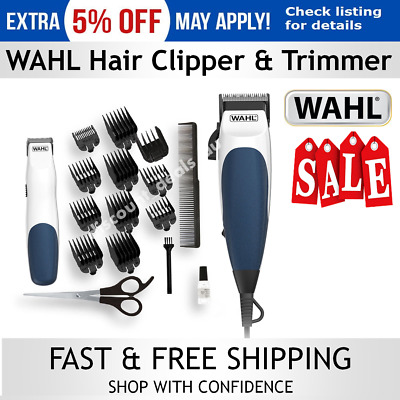 Wahl Mens Haircut Clippers with Cordless Trimmer Beard Hair Clipper Grooming NEW