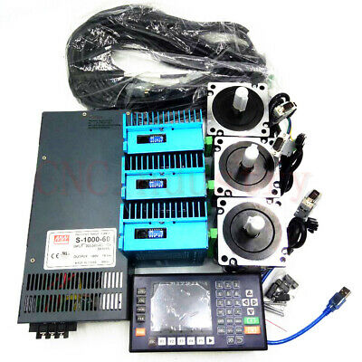 4.5NM 3Axis Closed Loop Stepper Motor Nema34 Drive&1000W Power Supply&Controller