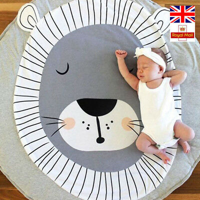 Play Mat Round Lion Rabbit Unicorn Fox Koala Crawling Blanket Infant Game Pad