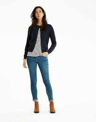 Joules Skye Button Front Knitted Cardigan Sweater in FRENCH NAVY