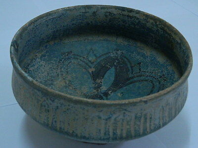 Ancient Huge Size Teracotta Glazed Bowl Islamic 1000 AD #PT15172