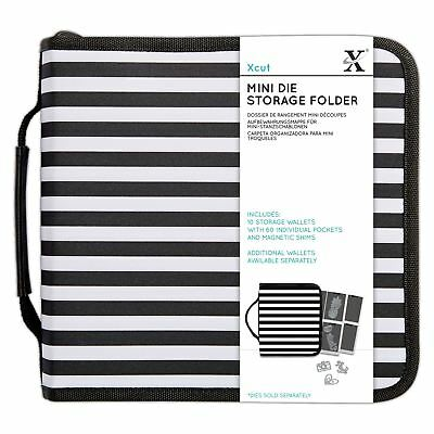 DoCrafts XCUT STORAGE FOLDER FOR MINI DIES WITH 10 STORAGE WALLETS 60 POCKETS