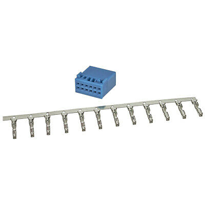 Power Quadlock Stecker blau 12 poliges Montage Set incl. Kontakte für VW Gruppe