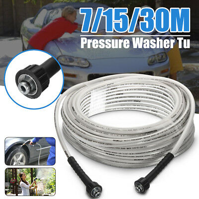 5/16'' High Pressure Washer Extension Hose 4000PSI M22 Thread Jet Power 7/15/30M