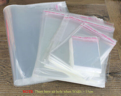 Clear Cello Cellophane Card Display Self Adhesive Peel & Seal Plastic OPP Bags