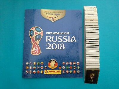 Panini FIFA WORLD CUP RUSSIA 2018 album + complete set 682 stickers