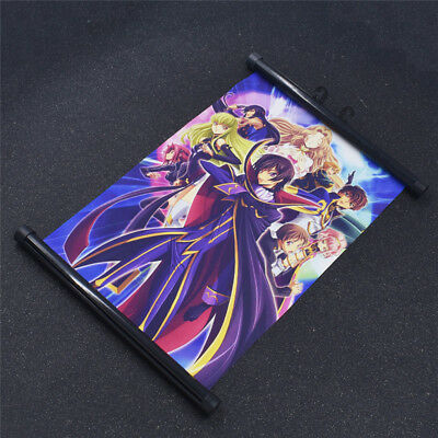 Lelouch of the Rebellion Scroll Poster Wall Art Japan Anime Home Decoration Gift
