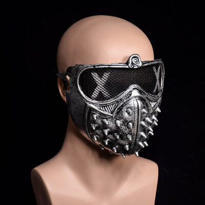 Unisex Mask Rivet Black Sliver/Gold/Black Punk Steampunk Devil Fashion Stage Cos
