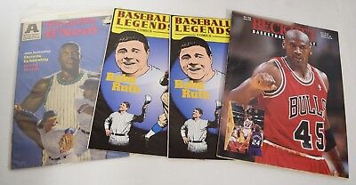 Comic Publication Lot Of 4 Babe Ruth Michael Jordan Shaquille Oneal M895