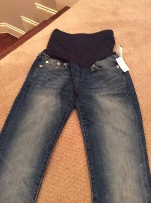 New Gap 1969 Maternity Pants Size 2r 2 Regular Blue Jeans Perfect Boot