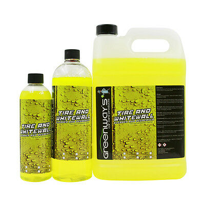 Tire whitewall cleaner blackwall degreaser concentrated raised lettering