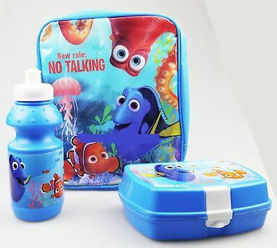 6x New 3PC Set Finding Dory Nemo School Lunch Bag Box Bottle Clearance Job Lot