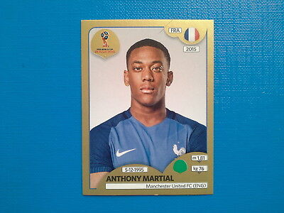 Figurine Panini World Cup Russia 2018 Gold n.211 Anthony Martial France