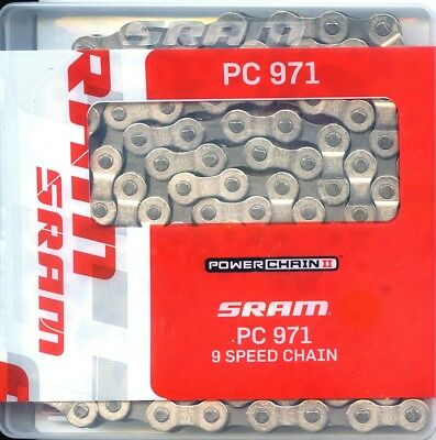 SRAM PC 971 Powerchain-II 9-fach Kette mit PowerLink Verschlussglied, 114Glieder