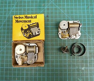 New Old Stock Movement For A Music Box & One For Spare Parts.