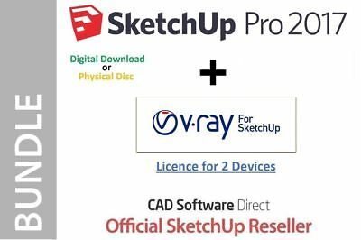 SketchUp Pro 2017 - 2018 + VRAY 3.4 - Full Version + Serial Number