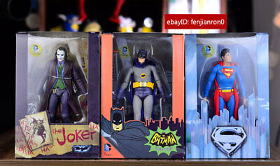 "Neca Batman Superman Joker Dc Comics Collectible  7"" Action Figure Toy Set Nib"