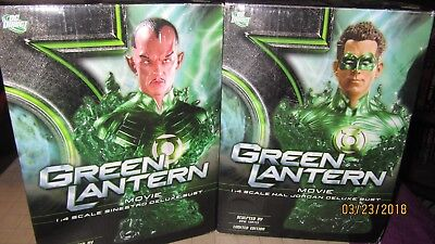 DC Direct GreenLantern & Sinestro Movie Busts Numbered 0724 & 0269 of 3500 MIB