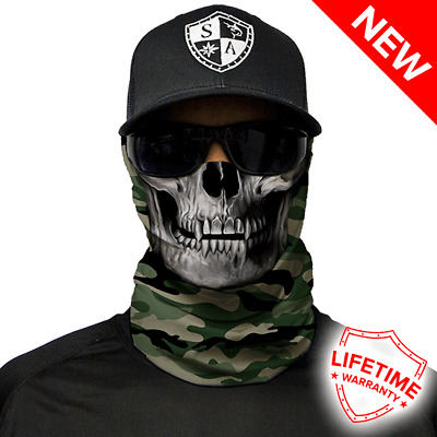 Green Military Camo Skull Face Shield von SA Company *SOFORTVERSAND*