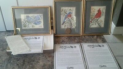 3 X Cash's Woven Silk Framed Pictures .