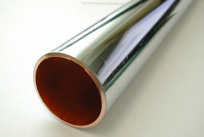 35mm Chrome Plated Copper Pipe / Tube (100mm - 500mm Lengths Available)