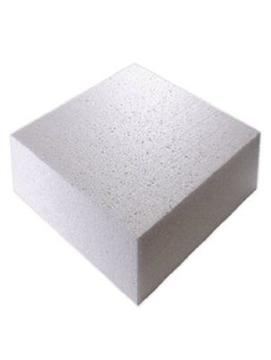 "14"" Inch SQUARE Cake Polystyrene Dummy 4"" INCH DEEP"