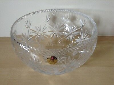 Welsh Royal Lead Crystal Bowl. 12.5cms Tall X 20cms Dia. Hand Crafted In Wales