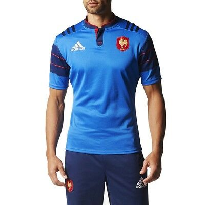 Football jersey replica Rugby XV France Blue Man Adidas