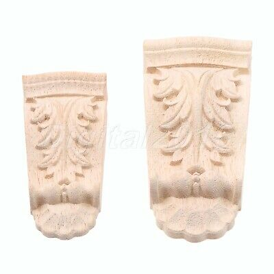 Woodcarving Corbels Corner Decal Wood Carved Onlay Applique Home Furniture Decor