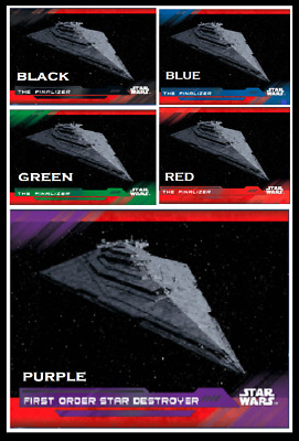 Topps Star Wars Card Trader Vehicles Subset The Finalizer 5 Variant Purple Black