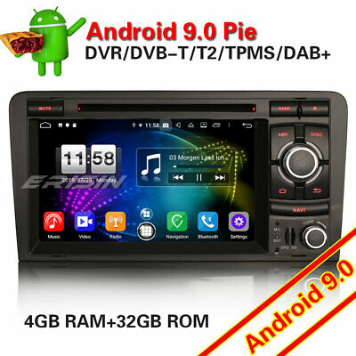 Android 8.0 DAB+Autoradio GPS NAVI DVD TNT RDS Canbus OBD Audi A3 S3 RS3 RNSE-PU