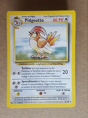 Pidgeotto  22/102 - RARA* - Set Base (ita)  - (ab1036)