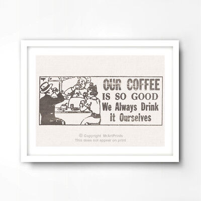 ADVERTISING CAFE JACQMOTTE BRUSSELS COFFEE CUP LADY HAT COOL POSTER PRINT LV556
