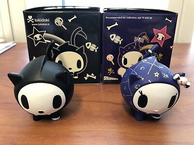 TOKIDOKi SKELETRINO, SKELETRINA, PETS VINYL LIMITED RARE COLLECTIBLE LOT of 2