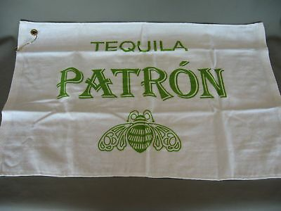Tequila Patron 25x16'' Bar Hand Towel With Grommet & Hook Bee Logo Uncommon NEW