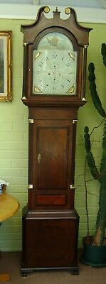 Antique Grandfather Clock -8 day.